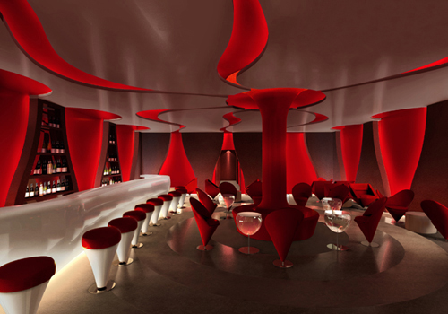 Interior Rendering WineBar